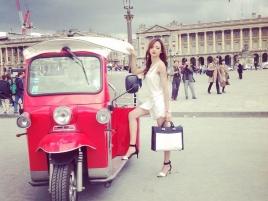 e-Tuk-Tuk Place Vendôme à Paris, Capitale de la Mode