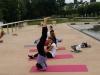 Pratique du yoga avec Parvati sur Stouring à Vernon-Giverny