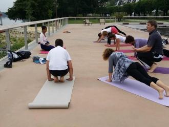 Pratiquer le yoga avec Parvati sur Stouring à Vernon-Giverny
