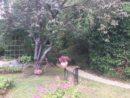 Jardin de l'Hôtel Baudy à Giverny