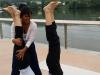 Posture de Yoga avec Parvati, professeur de Yoga sur Stouring à Vernon-Giverny